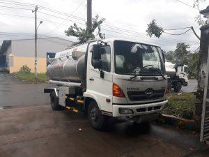 Xe bồn xitec chở xăng dầu hino fg hợp kim nhôm