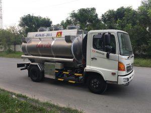 xe bồn chở xăng dầu hợp kim nhôm