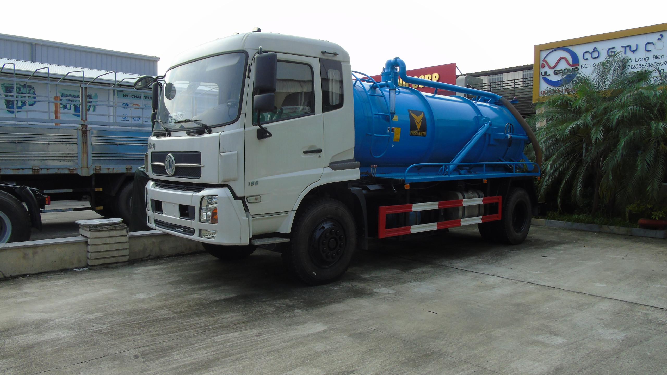 xe hút bùn dongfeng 8 khối nhập khẩu nguyên chiếc