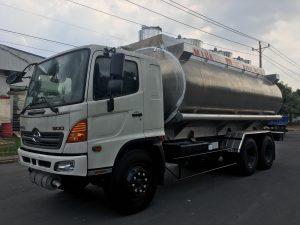 xe chở xăng dầu Hino FM bồn hợp kim nhôm 21 khối