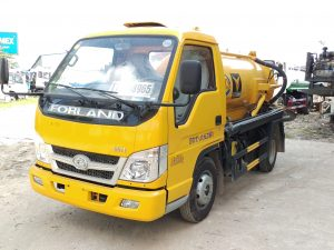 xe hút bùn, hút chất thải forland 2m3 nhập khẩu