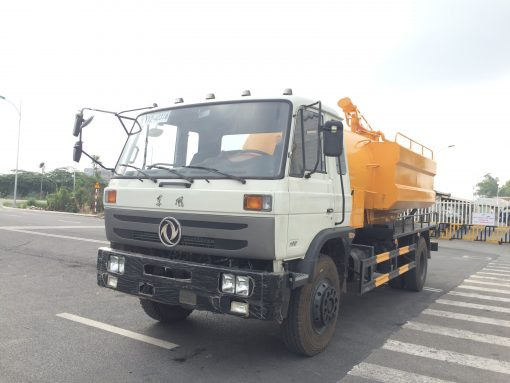 Xe hút bùn hút chất thải thông cống áp lực cao dongfeng nhập khẩu nguyên chiếc