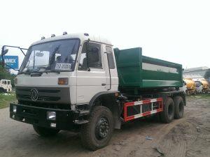 xe chở rác thùng rời dongfeng nhập khẩu nguyên chiếc