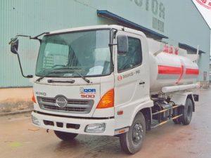 xe chở xăng dầu 8 khối Hino
