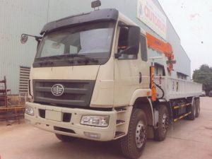 xe tải gắn cẩu DINEX 3 tấn Faw