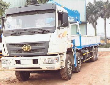 xe tải gắn cẩu DONGYANG 10 tấn Faw