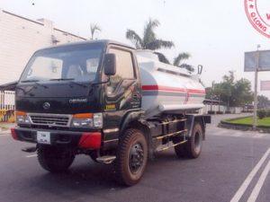 xe bồn xitec chở xăng dầu 6 khối Chiến Thắng