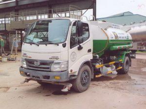 xe phun nước rửa đường 5 khốiHINO WU342L