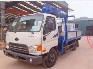xe tải gắn cẩu Tadano 3 tấn Hyundai có rổ nâng người làm việc trên cao