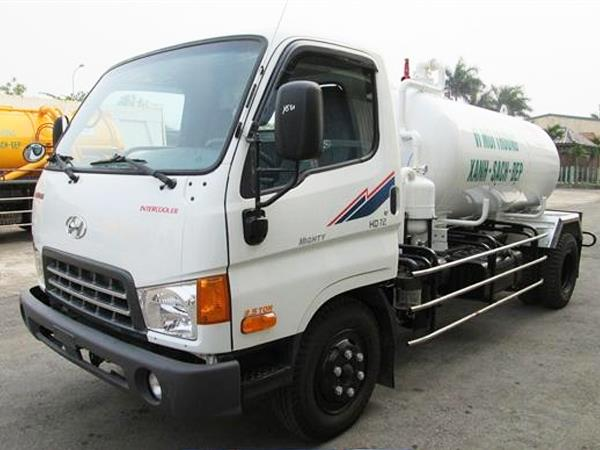 Xe hút bùn, hút chất thải 3 khối Hyundai HD72
