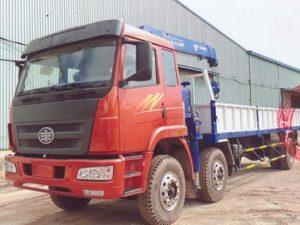 Xe tải gắn cẩu Tadano 5 tấn Faw