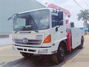xe cứu hộ giao thông Hino FG gắn cẩu Unic V345