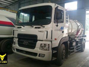 xe hút bùn, hút chất thải 8 khối Hyundai hd170