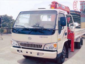 xe tải gắn cẩu khanglim 3 tấn Chiến Thắng