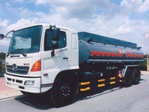 xe chở hóa chất, chở axít HCL 12 khối Hino FL