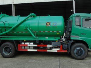 Xe hút bùn, hút chất thải 10 khối dongfeng nhập khẩu