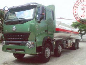 xe bồn xitec chở xăng dầu 18 khối Howo