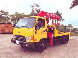 xe cứu hộ giao thông kéo xe Hyundai Hd650 gắn cẩu Unic V343