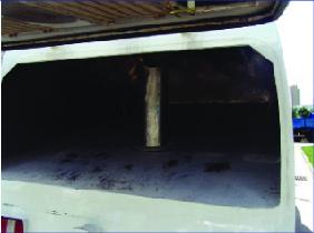 Thùng chứa rác xe quét đường hút bụi Isuzu 5 khối