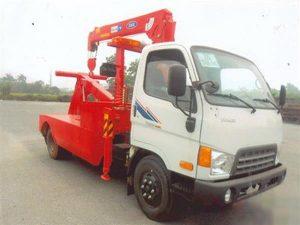 xe cứu hộ giao thông Hyundai hd650 gắn cẩu Kanglim