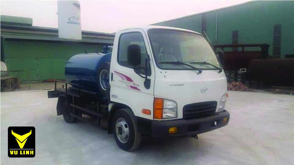Xe hút bùn, hút chất thải hyundai N250