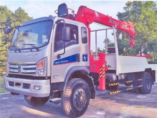 xe cứu hộ giao thông kéo xe Trường Giang 2 cầu gắn cẩu Kanglim 6 tấn