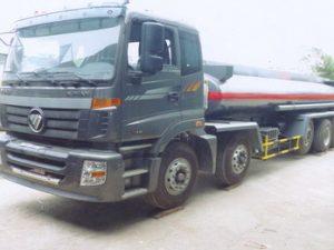 xe chở hóa chất, chở axít Sulfuric 14 khối Thaco