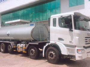 xe chở hóa chất, chở axít HCL 17 khối C&C
