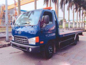 xe cứu hộ giao thông sàn trượt, càng kéo Hyundai Hd650 tải trọng 5 tấn