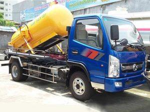Xe hút bùn, hút chất thải Dongfeng 4 khối