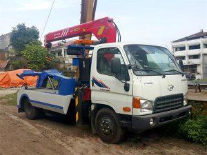 xe cứu hộ giao thông Hyundai Hd650