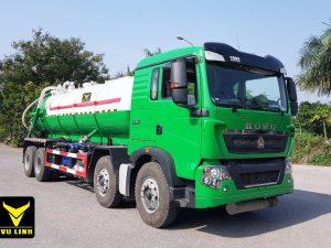 xe hút bùn, hút chất thải 15 khối Howo nhập khẩu