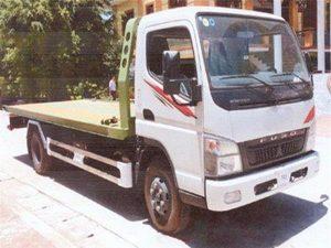 xe cứu hộ giao thông sàn trượt càng kéo misu fuso