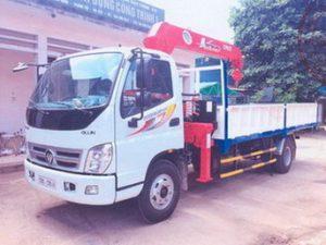 xe tải gắn cẩu Unic 3 tấn 5 đốt Thaco olin