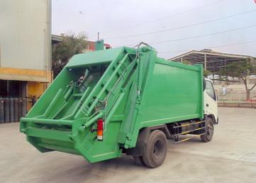 xe ép chở rác 4 khối Hino Wu