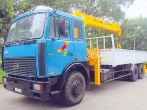 xe tải gắn cẩu Soosan 7 tấn VEAM VT1100