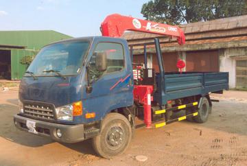 xe tải gắn cẩu Unic 3 tấnMIGHTY DONGVANG HD700