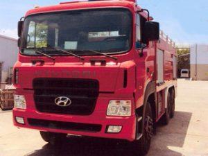 xe cứu hỏa 5 khối nước 1 khối bọt Hyundai HD 270