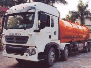 xe hút bùn, hút chất thải 14 khối Howo ZZ1317N466GC1