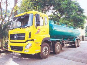 xe chở hóa chất chở hexane 24 khối Dongfeng