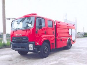 xe cứu hỏa 6 khối isuzu