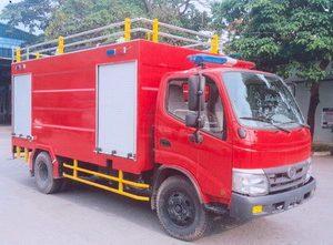 xe cứu hỏa 2 khối Hino Wu