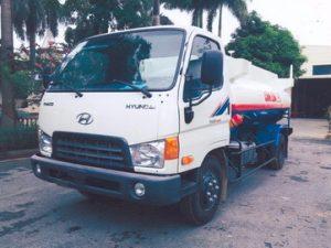 xe chở xăng dầu 6 khối THACO HD650
