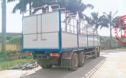 xe tải thùng mui bạt Faw 8x4